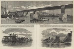 The Victoria Bridge over the St Lawrence at Montreal by Richard Principal Leitch