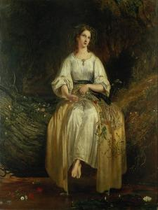 Ophelia Weaving Her Garlands, 1842 by Richard Redgrave