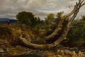 The Heron Disturbed, C.1850 by Richard Redgrave