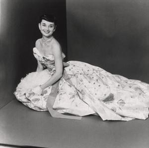 Audrey Hepburn, Age 22, Wearing Gown of Bianchini Silk Taffeta by Adrian by Richard Rutledge