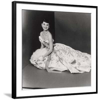 Audrey Hepburn, Age 22, Wearing Gown of Bianchini Silk Taffeta by Adrian