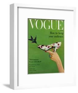 Vogue Cover - April 1957 by Richard Rutledge