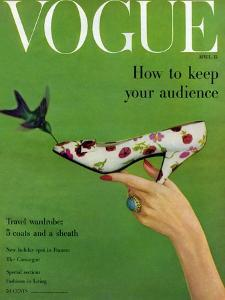 Vogue Cover - April 1957 by Richard Rutledge