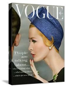 Vogue Cover - April 1959 - Talking Points by Richard Rutledge