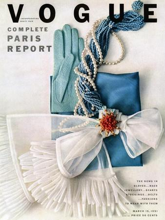 Vogue Cover - March 1951 - Got the Blues