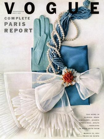 Vogue Cover - March 1951 - Got the Blues