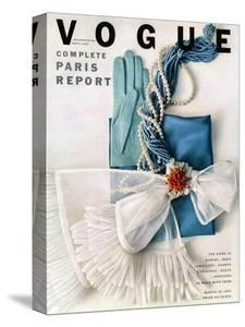 Vogue Cover - March 1951 - Got the Blues by Richard Rutledge