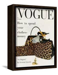 Vogue Cover - October 1958 - Animal Accessories by Richard Rutledge