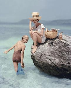 Vogue - January 1957 - Picnic Rock by Richard Rutledge