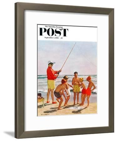 """Big Pole Little Fish"" Saturday Evening Post Cover, September 1, 1956"