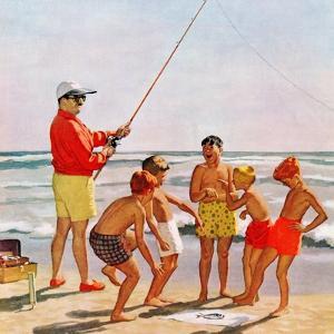 """Big Pole Little Fish"", September 1, 1956 by Richard Sargent"