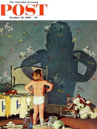 """""""Big Shadow, Little Boy,"""" Saturday Evening Post Cover, October 22, 1960"""