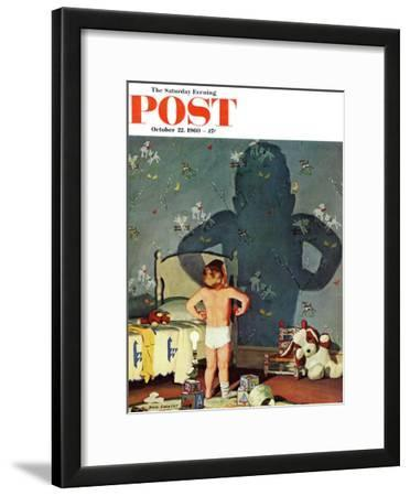 """Big Shadow, Little Boy,"" Saturday Evening Post Cover, October 22, 1960"
