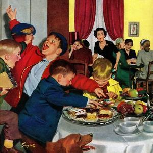 """""""Crashing Mom's Card Party"""", December 20, 1952 by Richard Sargent"""