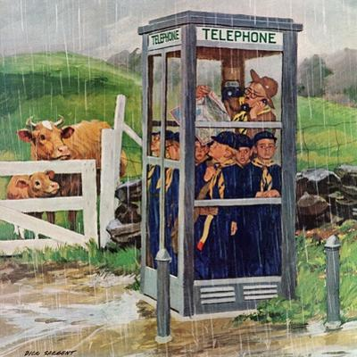 """""""Cub Scouts in Phone Booth,"""" August 26, 1961 by Richard Sargent"""