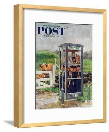 """Cub Scouts in Phone Booth,"" Saturday Evening Post Cover, August 26, 1961"