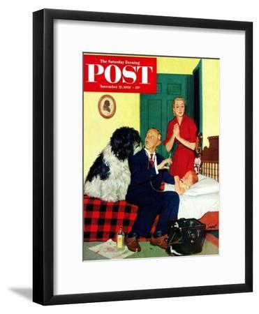 """Dr. and the Dog"" Saturday Evening Post Cover, November 21, 1953"