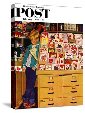 """""""First Valentine"""" Saturday Evening Post Cover, February 11, 1956"""