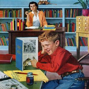 """Frog in the Library"", February 25, 1956 by Richard Sargent"
