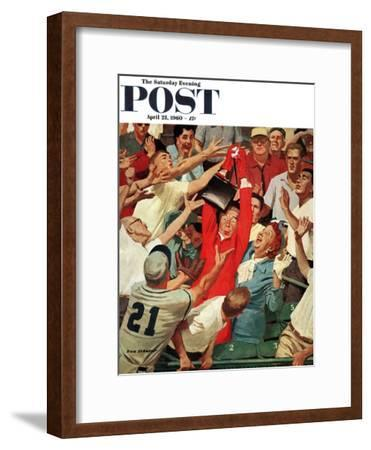 """""""Grandma Catches Fly-ball,"""" Saturday Evening Post Cover, April 23, 1960"""