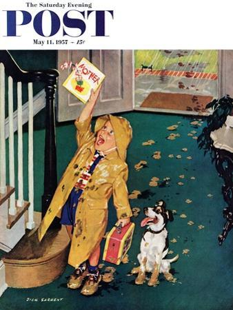 """""""Happy Mother's Day"""" Saturday Evening Post Cover, May 11, 1957"""