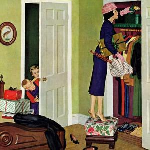 """""""Hiding the Presents"""", December 7, 1957 by Richard Sargent"""