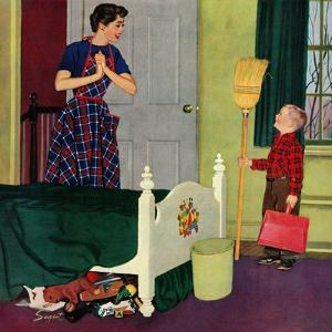 """""""Mom, I Cleaned My Room!"""", April 2, 1955 by Richard Sargent"""