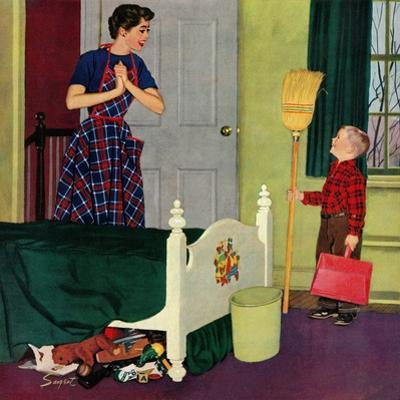 """""""Mom, I Cleaned My Room!"""", April 2, 1955"""