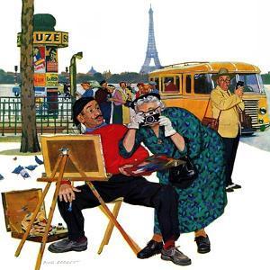 """Parisian Artist & Tourist"", July 11, 1959 by Richard Sargent"