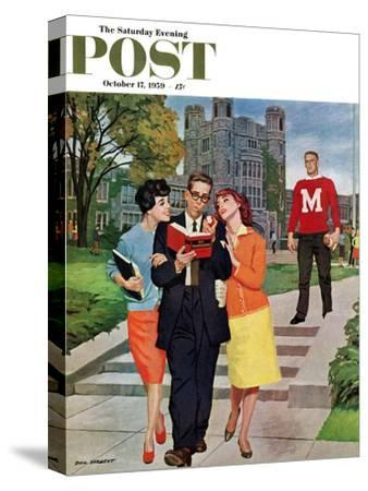 """""""Picking Poindexter"""" Saturday Evening Post Cover, October 17, 1959"""