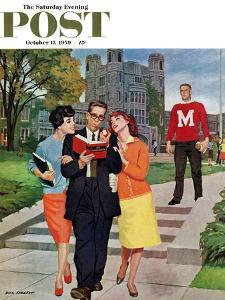 """""""Picking Poindexter"""" Saturday Evening Post Cover, October 17, 1959 by Richard Sargent"""