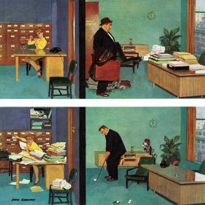 """""""Putting Time in the Office,"""" February 18, 1961 by Richard Sargent"""