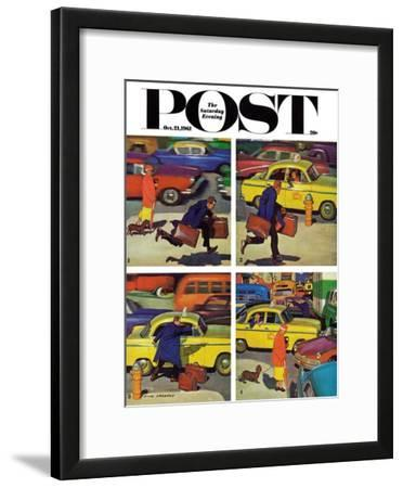 """""""Rush Hour (4 panel),"""" Saturday Evening Post Cover, October 21, 1961"""