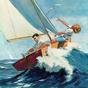 """Seasick Sailor"", August 22, 1959 by Richard Sargent"