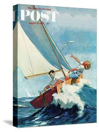 """Seasick Sailor"" Saturday Evening Post Cover, August 22, 1959"