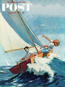 """""""Seasick Sailor"""" Saturday Evening Post Cover, August 22, 1959 by Richard Sargent"""