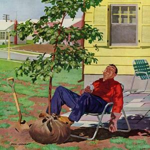 """""""Shade Tree"""", April 12, 1958 by Richard Sargent"""