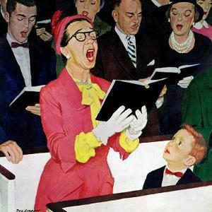 """Singing Praise"", March 7, 1959 by Richard Sargent"