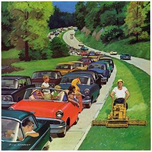 """""""Speeder on the Median,"""" June 2, 1962 by Richard Sargent"""