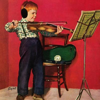 """Violin Practice"", February 5, 1955"