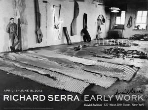 In His Studio (1968) by Richard Serra