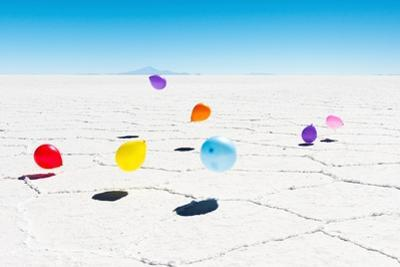 Balloons Three, Salar de Uyuni, Bolivia by Richard Silver