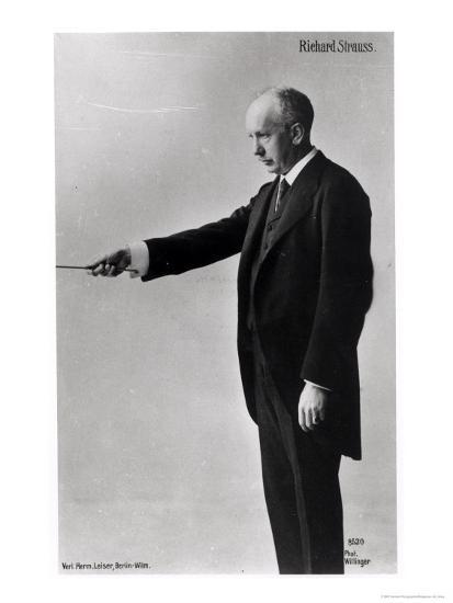 Richard Strauss Conducting in Berlin, 1920s--Giclee Print