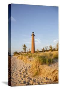 Little Sable Point Lighthouse near Mears, Michigan. by Richard & Susan Day