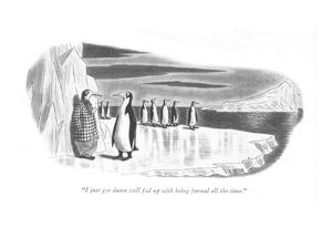 """I just got damn well fed up with being formal all the time."" - New Yorker Cartoon by Richard Taylor"