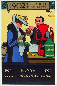 First Coffee from Kenya, from the Series 'Milestones of Empire Trade' by Richard Tennant Cooper