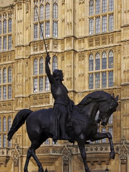 Richard the Lionheart Statue, Houses of Parliament, Westminster, London, England, Uk-Jeremy Lightfoot-Photographic Print