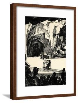 Richard Wagner at a-Adolph Friedrich Erdmann von Menzel-Framed Giclee Print