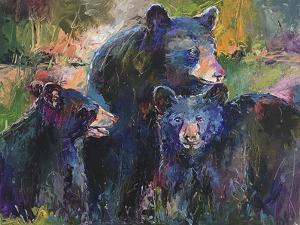 Art Bear Family by Richard Wallich