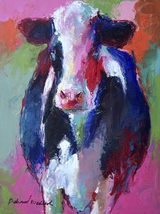 Art Pink Cow by Richard Wallich